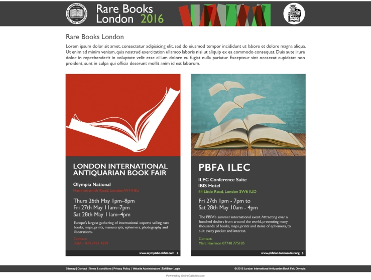 1. Rare Books London - Landing Page (1)