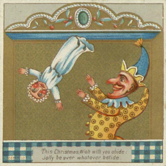 This Christmas wish with you abide. Victorian Christmas card