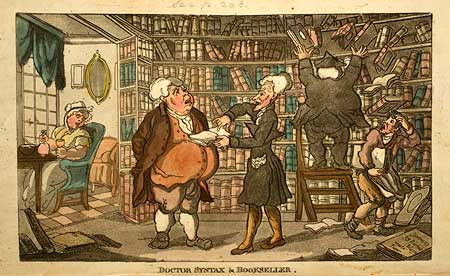 Image result for caricature  bookshop antiquarian